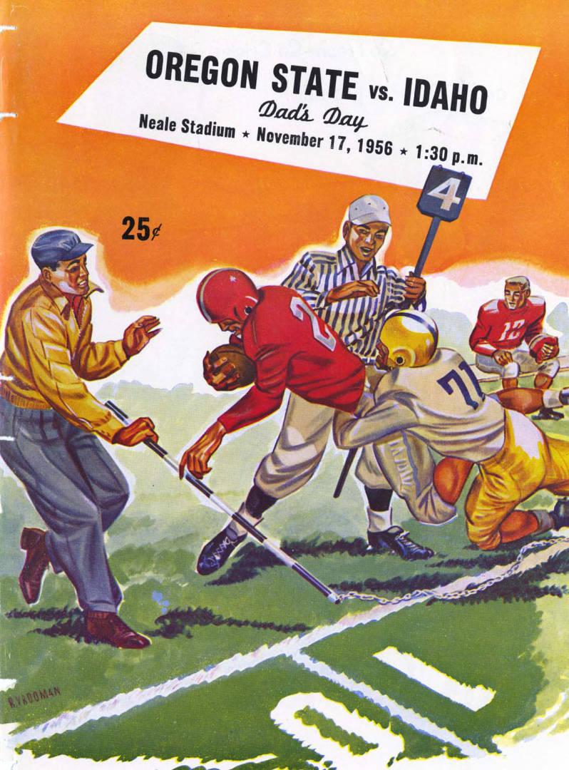 item thumbnail for Football Program: Idaho vs University of Oregon, 11/17/1956, Neale Stadium, Moscow (Idaho)