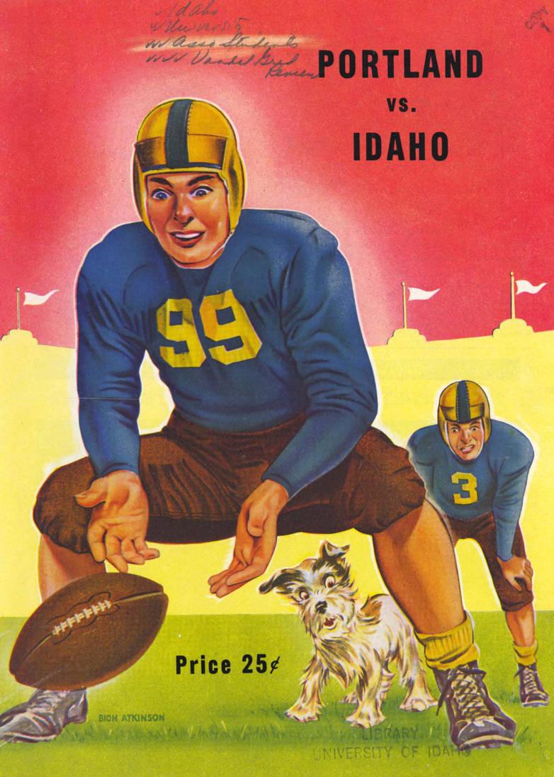 item thumbnail for Football Program: Idaho vs Portland University, 10/29/1949, Neale Stadium, Moscow (Idaho)