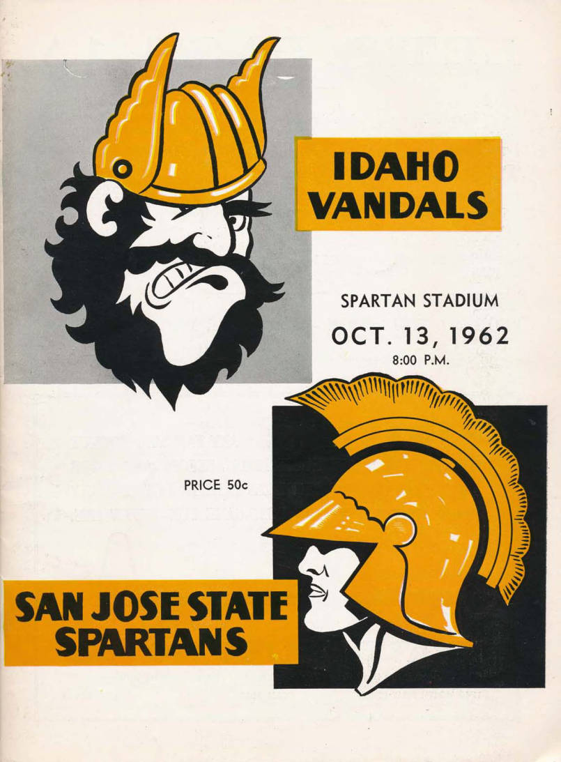 item thumbnail for Football Program: Idaho vs San Jose State, 10/13/1962, Spartan Stadium, San Jose (California)