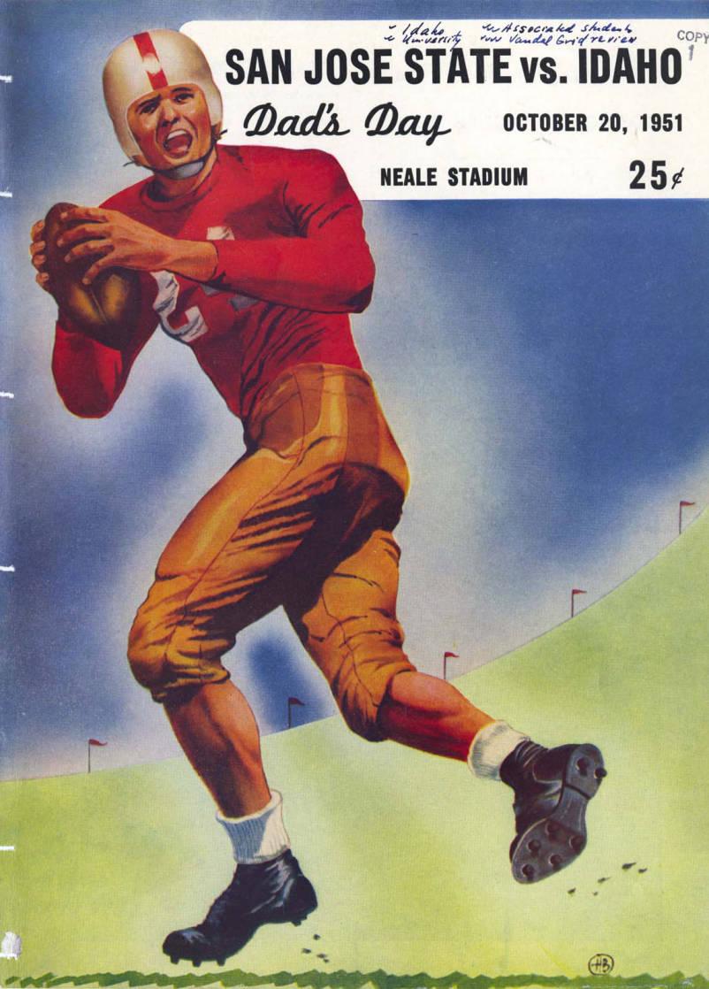 item thumbnail for Football Program: Idaho vs University of Southern California, 10/20/1951, Neale Stadium, Moscow (Idaho)