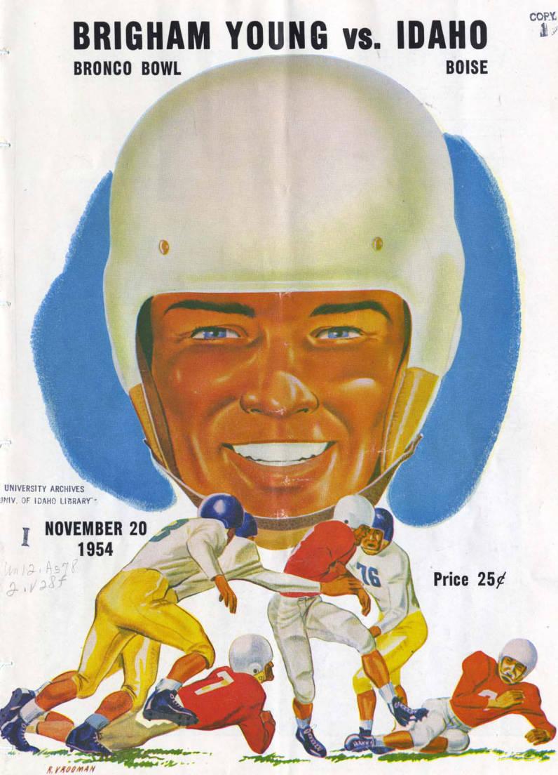 item thumbnail for Football Program: Idaho vs Brigham Young University, 11/20/1954, Brigham Young Stadium, Rexburg (Idaho)