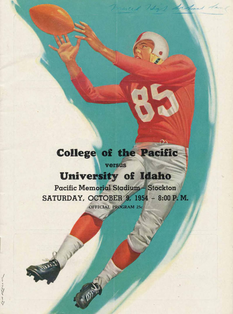 item thumbnail for Football Program: Idaho vs College of the Pacific, 10/09/1954, Pacific Memorial Stadium, Stockton (California)
