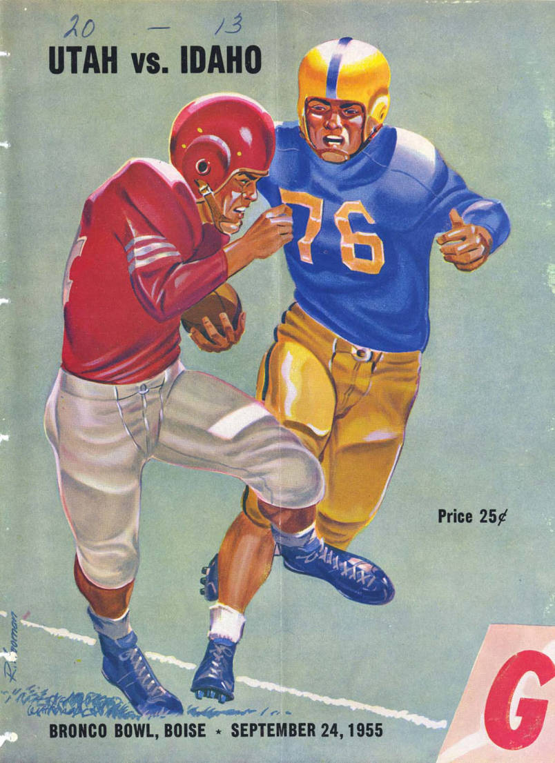 item thumbnail for Football Program: Idaho vs University of Utah, 09/24/1955, Bronco Stadium, Boise (Idaho)
