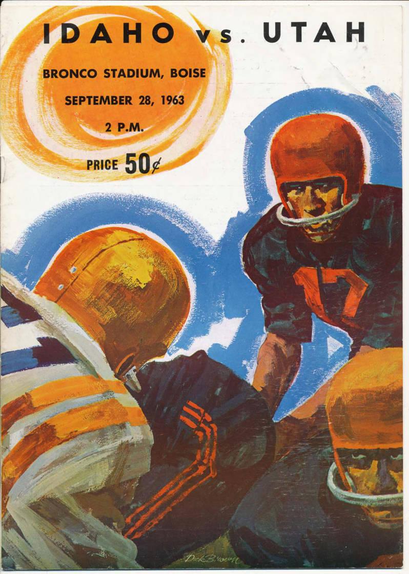 item thumbnail for Football Program: Idaho vs University of Utah, 09/28/1963, Bronco Stadium, Boise (Idaho)