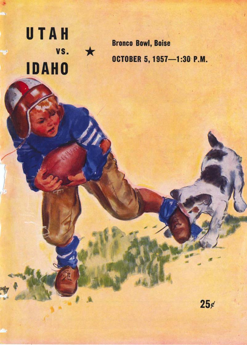 item thumbnail for Football Program: Idaho vs University of Utah, 10/05/1957, Bronco Stadium, Boise (Idaho)