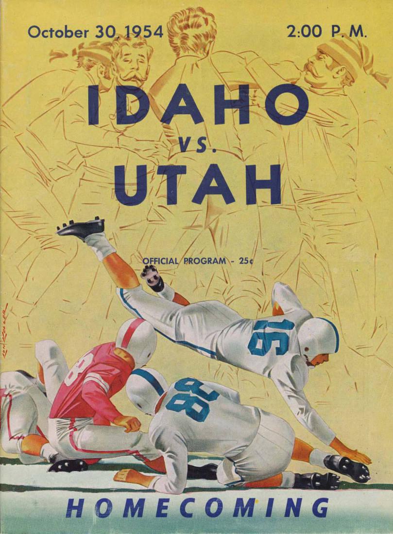 item thumbnail for Football Program: Idaho vs University of Utah, 10/30/1954, Neale Stadium, Moscow (Idaho)