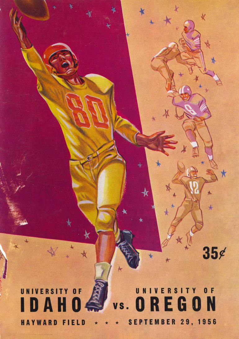 item thumbnail for Football Program: Idaho vs University of Oregon, 09/29/1956, Hayward Field, Eugene (Oregon)