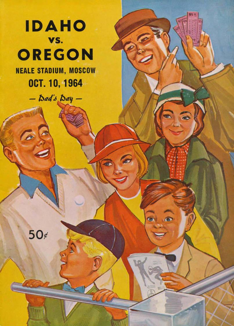 item thumbnail for Football Program: Idaho vs University of Oregon, 10/10/1964, Neale Stadium, Moscow (Idaho)