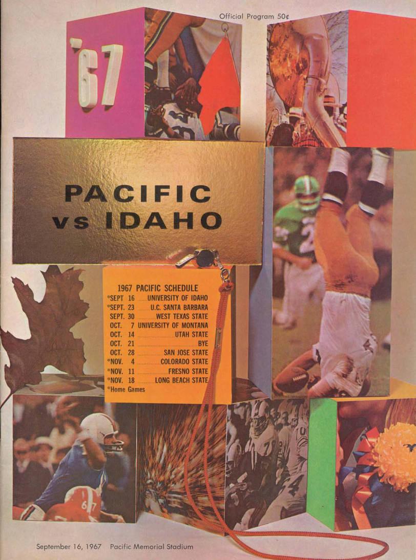 item thumbnail for Football Program: Idaho vs Pacific Memorial, 09/16/1967, Neale Stadium, Moscow (Idaho)