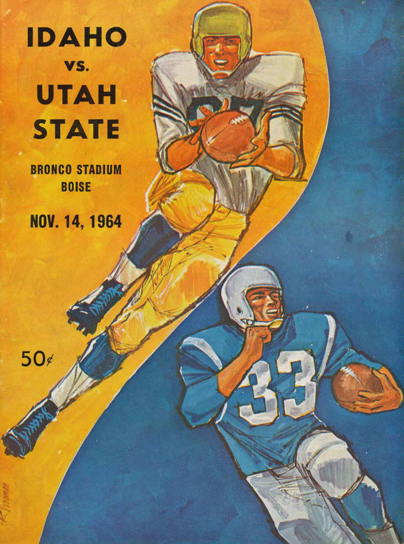 item thumbnail for Football Program: Idaho vs University of Washington, 11/14/1964, Bronco Stadium, Boise (Idaho)