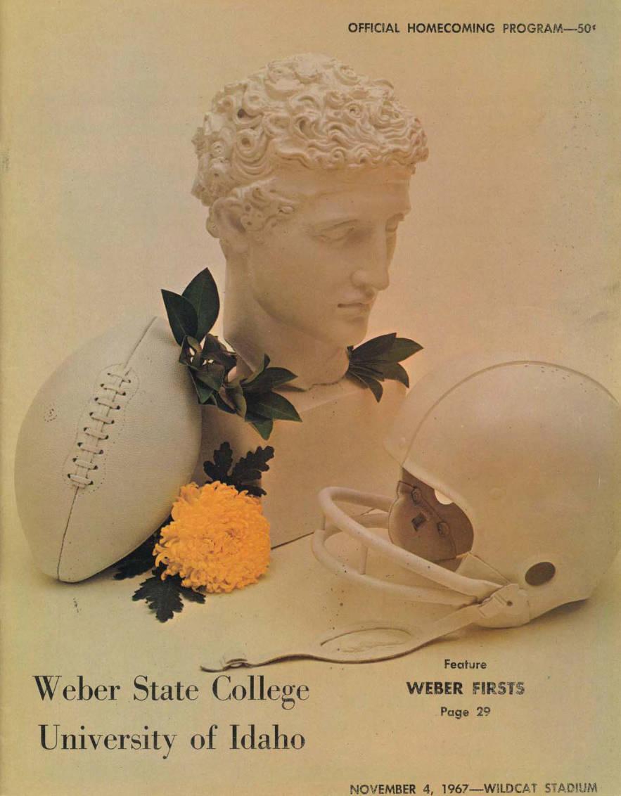 item thumbnail for Football Program: Idaho vs Weber State College, 11/04/1967, Wildcat Stadium, Ogden (Utah)
