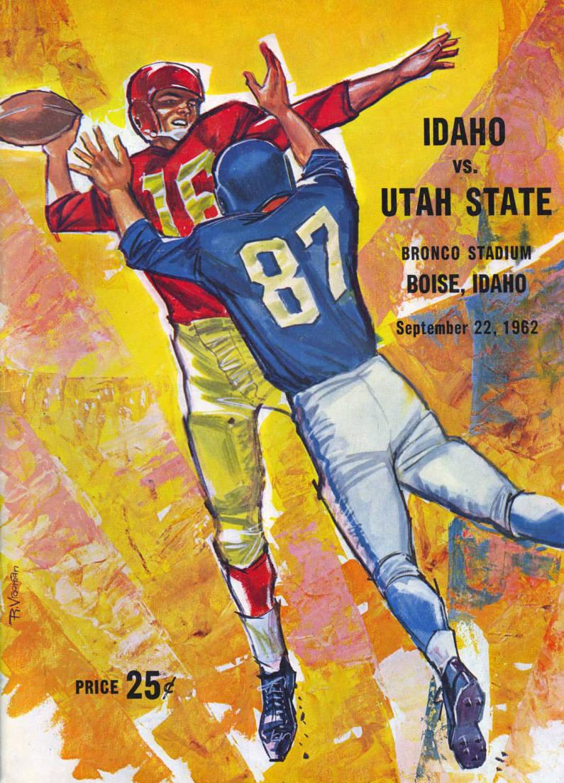 item thumbnail for Football Program: Idaho vs Utah State, 09/22/1962, Bronco Stadium, Boise (Idaho)