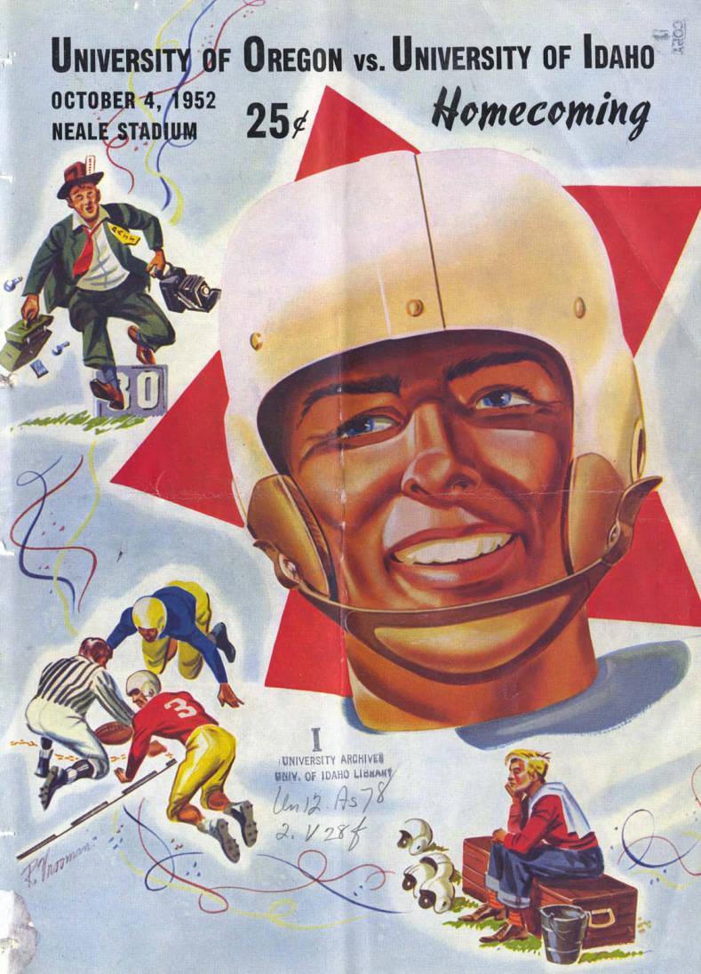item thumbnail for Football Program: Idaho vs University of Oregon, 10/04/1952, Neale Stadium, Moscow (Idaho)