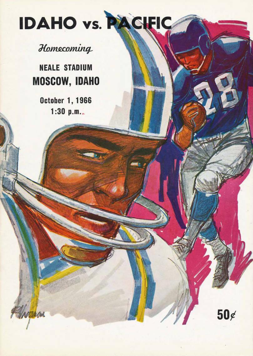 item thumbnail for Football Program: Idaho vs College of the Pacific, 10/01/1966, Neale Stadium, Moscow (Idaho)