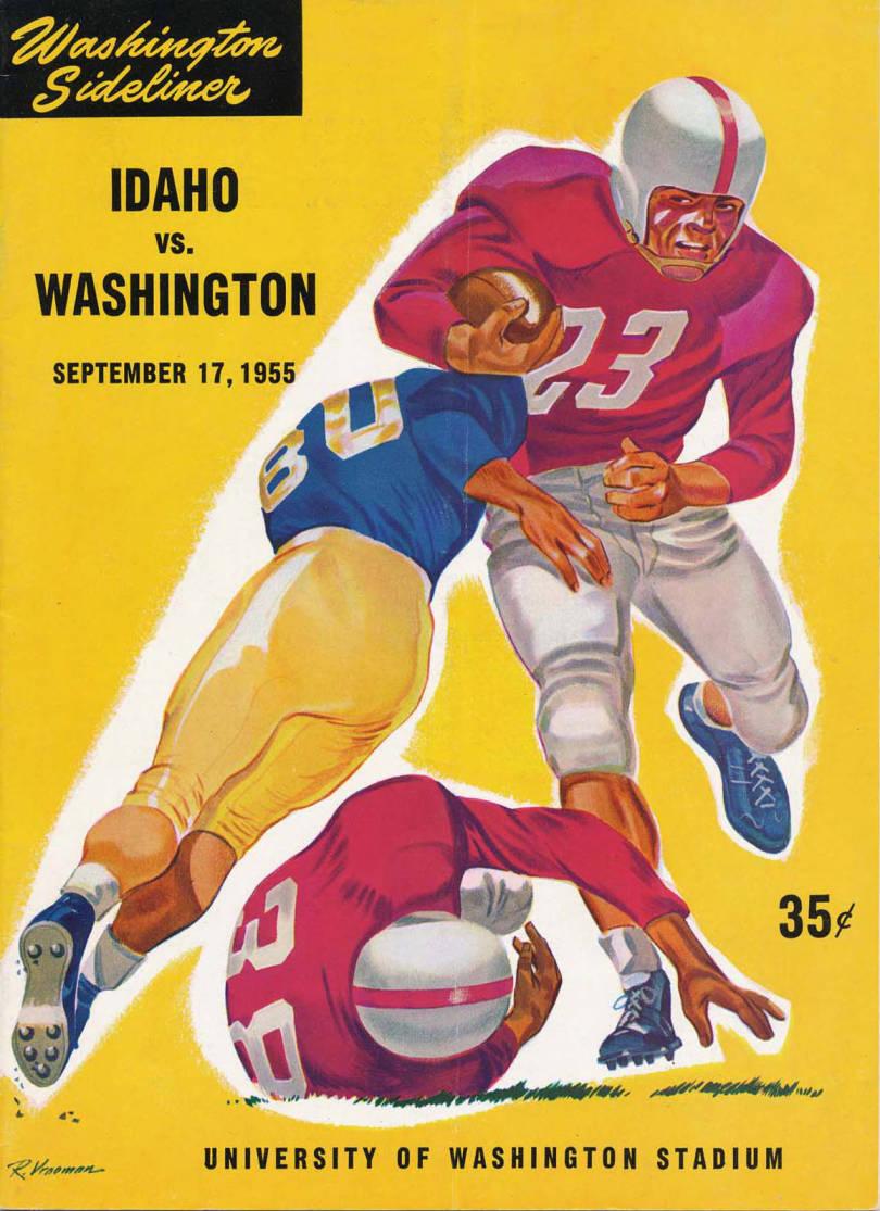item thumbnail for Football Program: Idaho vs University of Washington, 09/17/1955, University of Washington Stadium, Seattle (Washington)