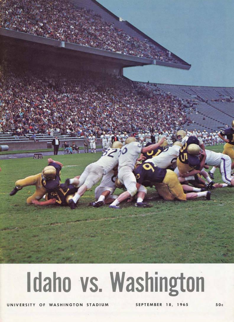 item thumbnail for Football Program: Idaho vs University of Washington, 09/18/1965, University of Washington Stadium, Seattle (Washington)