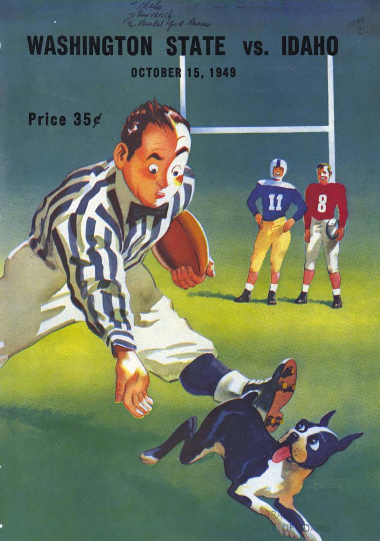 item thumbnail for Football Program: Idaho vs Washington State University, 10/15/1949, Neale Stadium, Moscow (Idaho)
