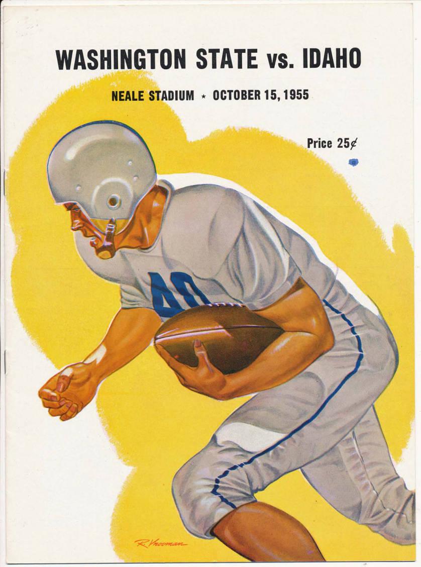 item thumbnail for Football Program: Idaho vs Washington State University, 10/15/1955, Neale Stadium, Moscow (Idaho)