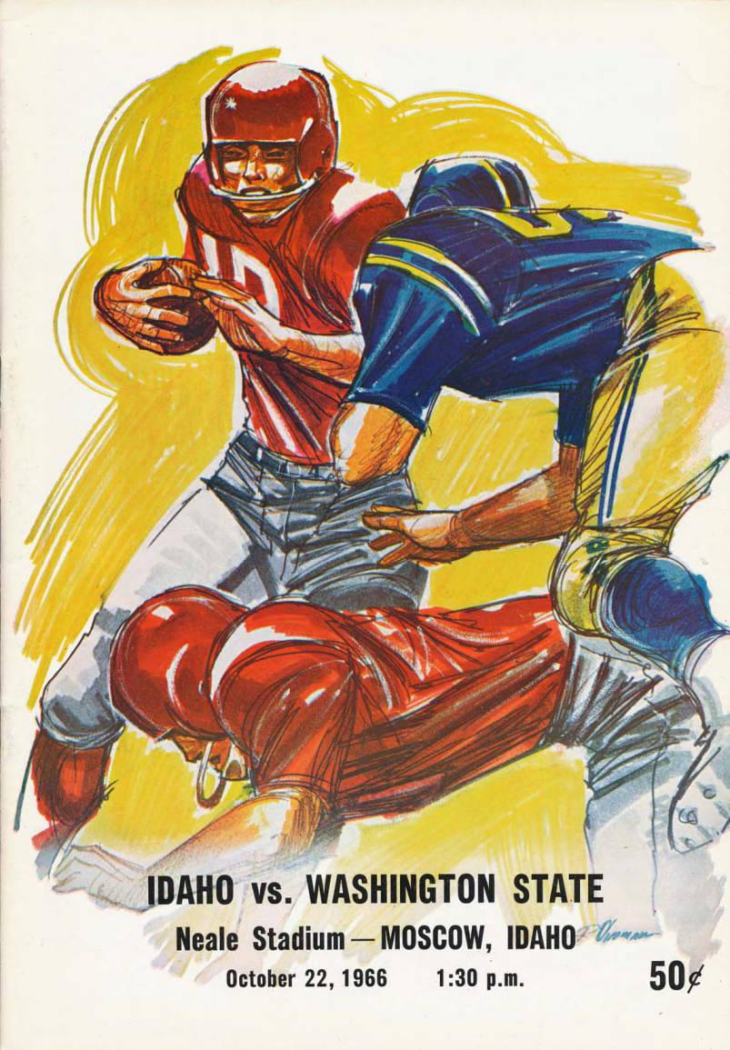 item thumbnail for Football Program: Idaho vs Washington State University, 10/22/1966, Neale Stadium, Moscow (Idaho)