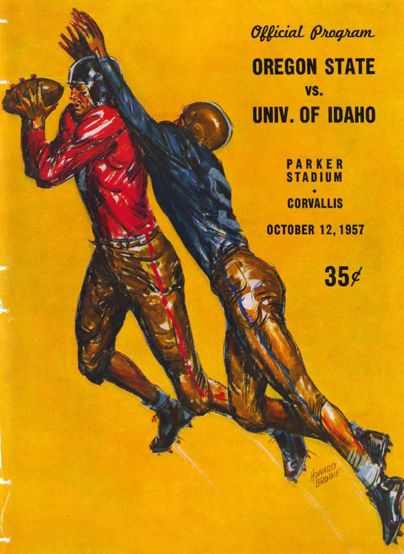 item thumbnail for Football Program: Idaho vs Oregon State, 10/12/1957, Parker Stadium, Corvallis (Oregon)