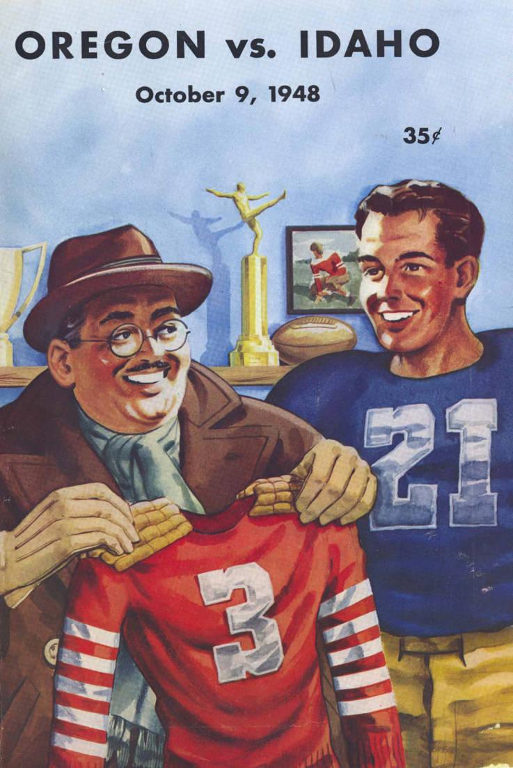item thumbnail for Football Program: Idaho vs University of Oregon, 10/09/1948, Hayward Field, Moscow (Idaho)
