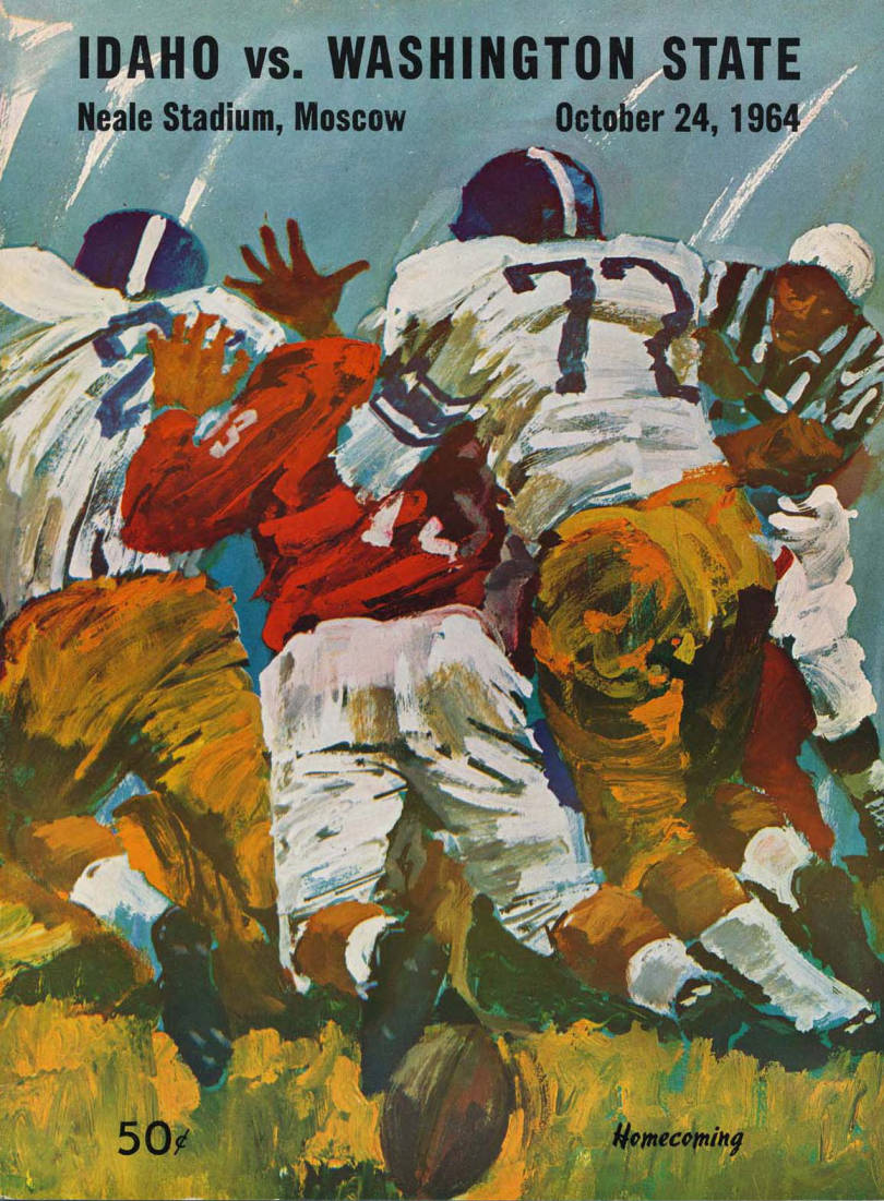 item thumbnail for Football Program: Idaho vs Washington State University, 10/24/1964, Neale Stadium, Pullman (Washington)