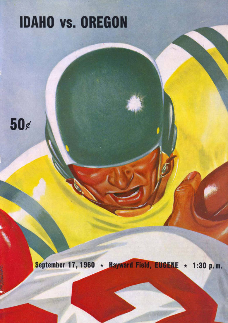 item thumbnail for Football Program: Idaho vs Oregon State, 09/17/1960, Hayward Field, Eugene (Oregon)