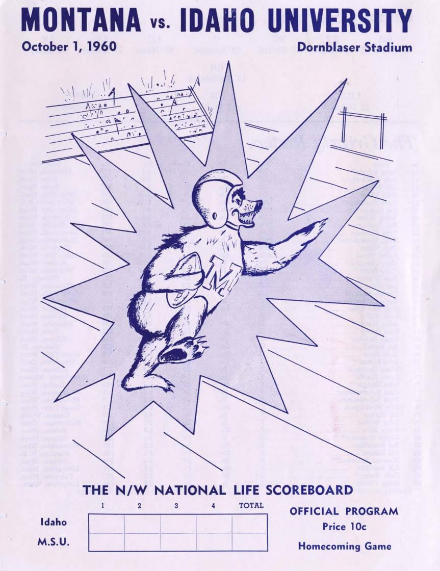 item thumbnail for Football Program: Idaho vs University of Montana, 10/01/1960, Dornblaser Field, Missoula (Montana)
