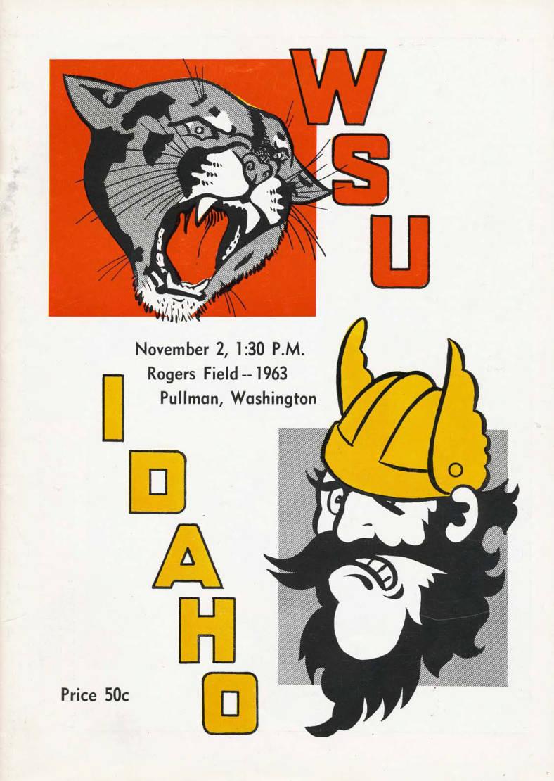 item thumbnail for Football Program: Idaho vs Washington State University, 11/02/1963, Rodgers Field, Pullman (Washington)