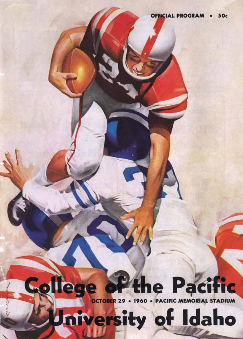 item thumbnail for Football Program: Idaho vs College of the Pacific, 10/29/1960, Pacific Memorial Stadium, Stockton (California)