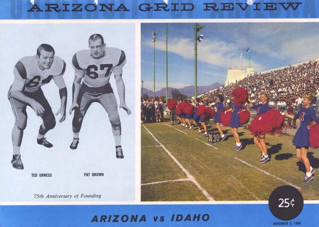 item thumbnail for Football Program: Idaho vs University of Arizona, 11/05/1960, Tucson (Arizona)