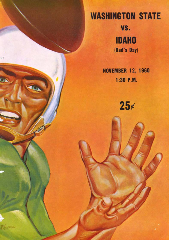 item thumbnail for Football Program: Idaho vs Washington State, 11/12/1960, Neale Stadium, Moscow (Idaho)