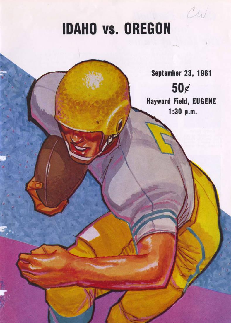 item thumbnail for Football Program: Idaho vs University of Oregon, 09/23/1961, Hayward Field, Eugene (Oregon)