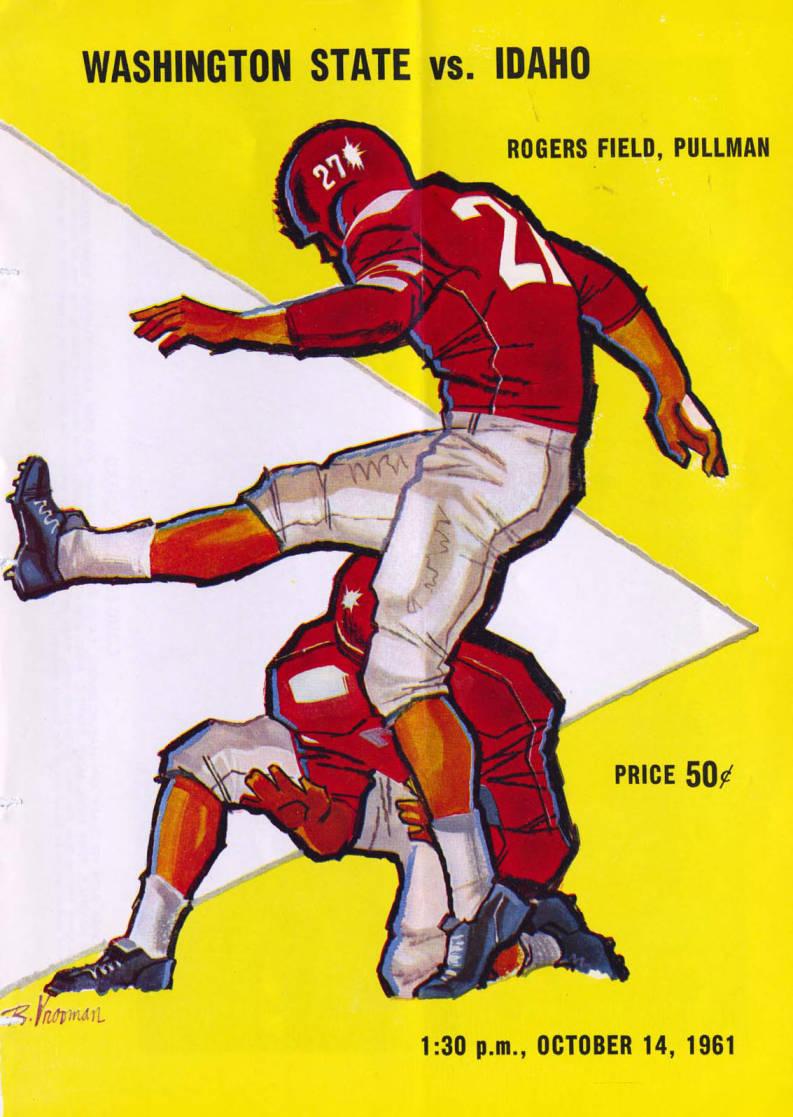 item thumbnail for Football Program: Idaho vs Washington State University, 10/14/1961, Rogers Field, Pullman (Washington)