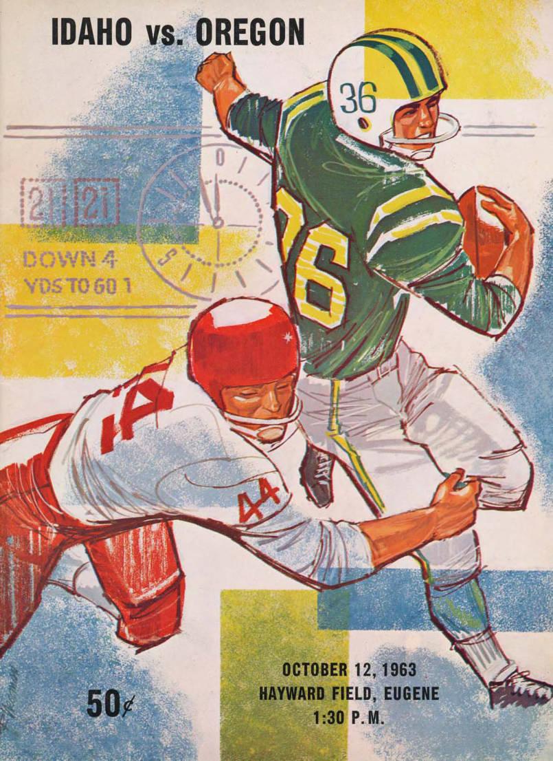 item thumbnail for Football Program: Idaho vs University of Oregon, 10/12/1963, Hayward Field, Eugene (Oregon)