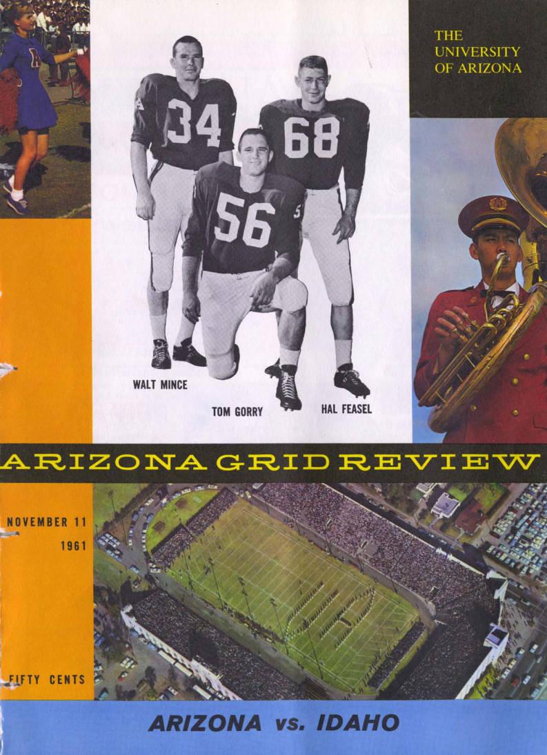 item thumbnail for Football Program: Idaho vs University of Arizona, 11/11/1961,  Boise (Idaho)