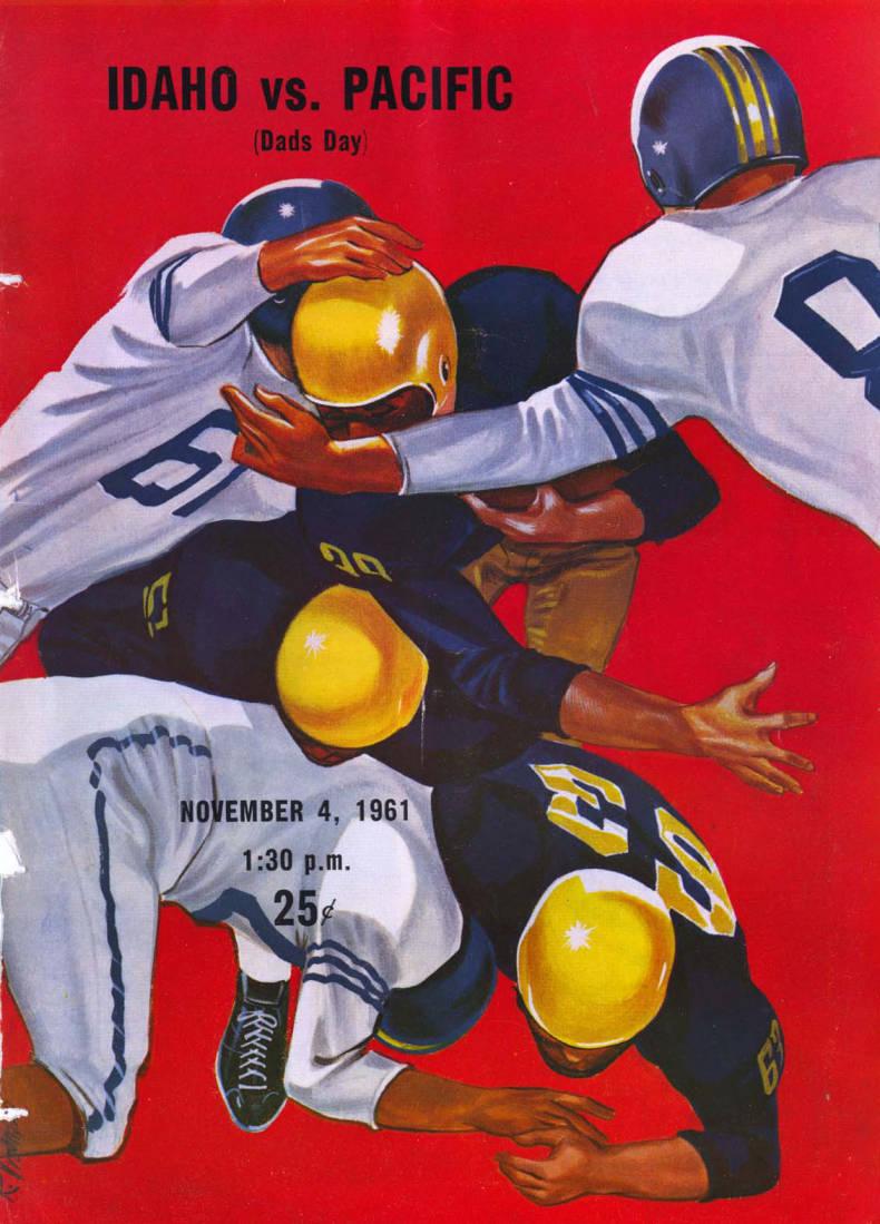 item thumbnail for Football Program: Idaho vs College of the Pacific, 11/04/1961, Neale Stadium, Moscow (Idaho)