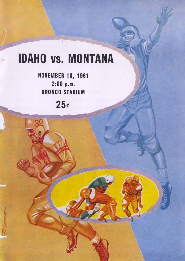item thumbnail for Football Program. Idaho -University of Montana, 11/18/1961, Bronco Stadium, Moscow (Idaho)