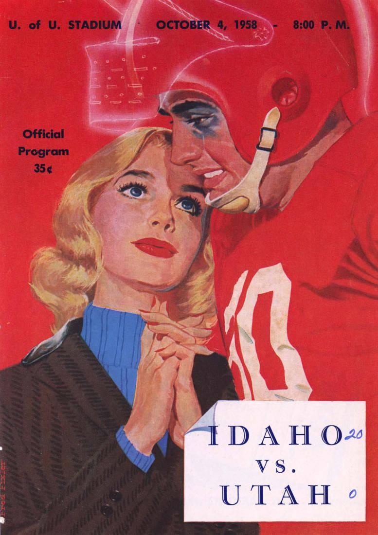 item thumbnail for Football Program: Idaho vs University of Utah, 10/04/1958, Neale Stadium, Moscow (Idaho)