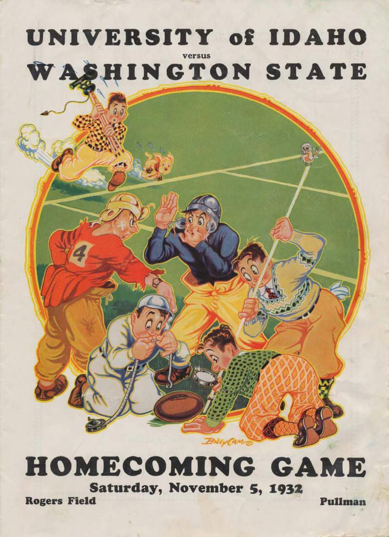 item thumbnail for Football Program: Idaho vs Washington State University, 11/05/1932, Rodgers Field, Pullman (Washington)