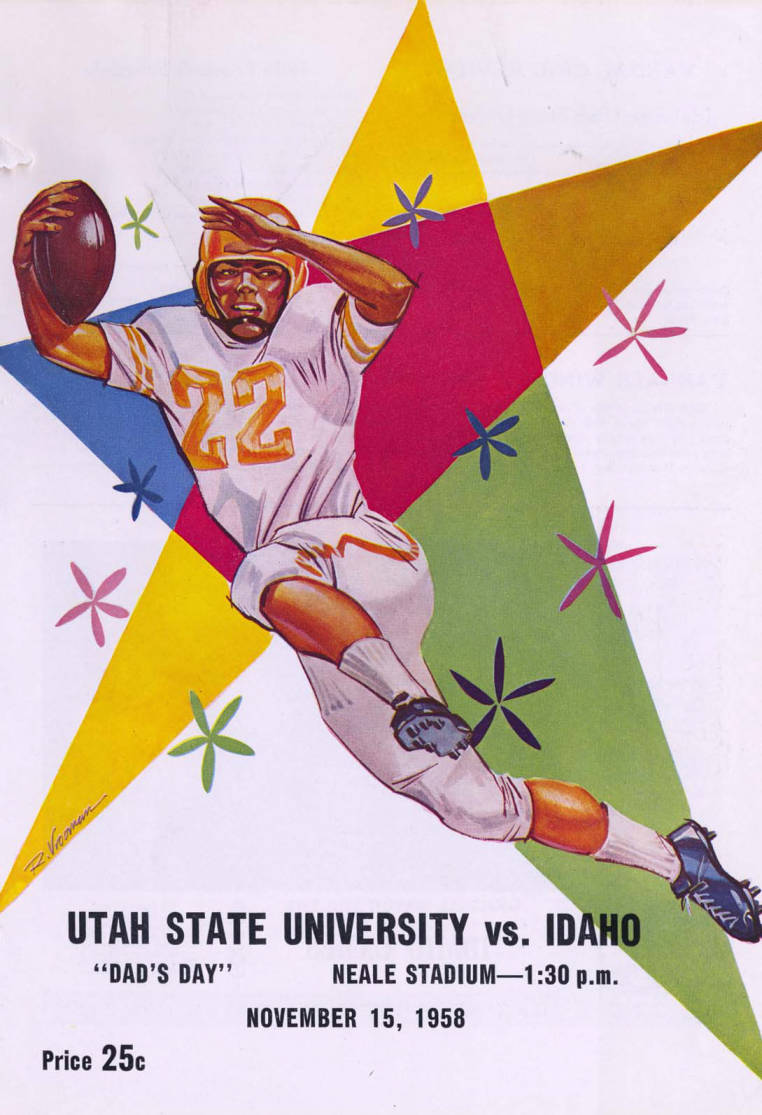 item thumbnail for Football Program: Idaho vs Utah State, 11/15/1958, Neale Stadium, Moscow (Idaho)