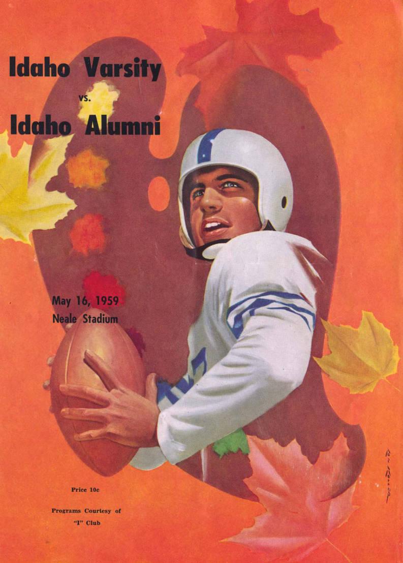 item thumbnail for Football Program: Idaho vs University of Idaho, 05/16/1959, Neale Stadium, Moscow (Idaho)
