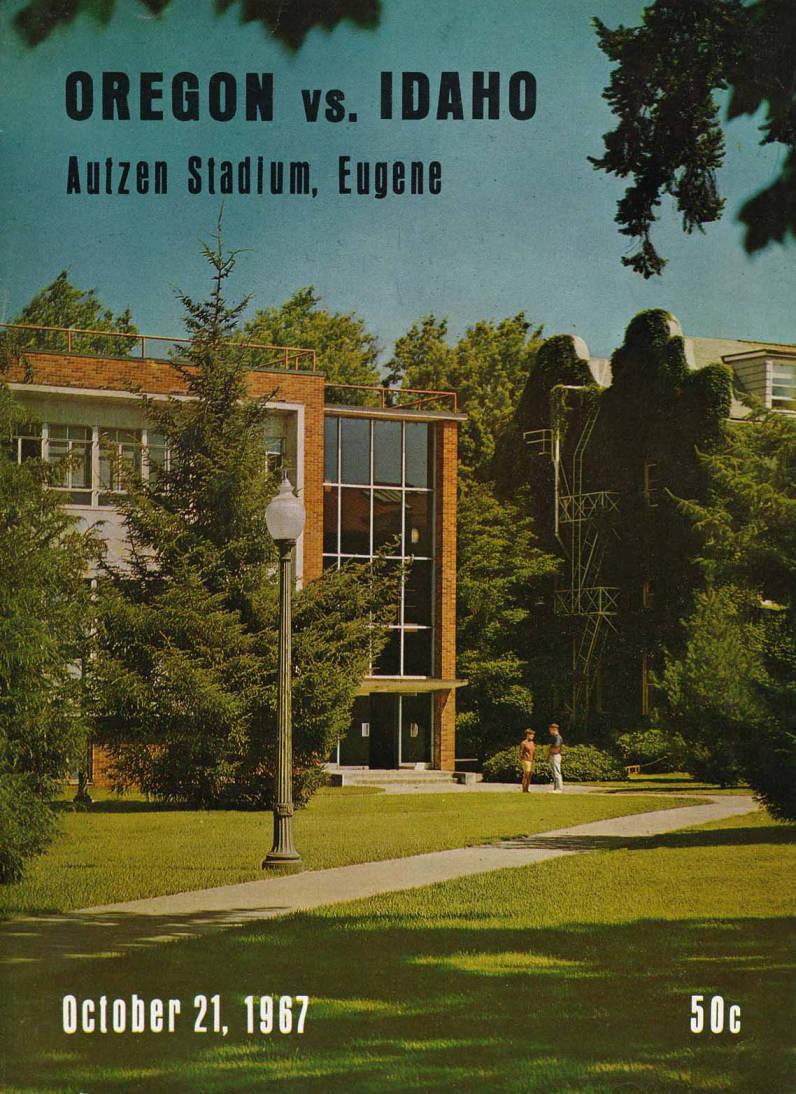 item thumbnail for Football Program: Idaho vs University of Oregon, 10/21/1967, Autzen Stadium, Eugene (Oregon)