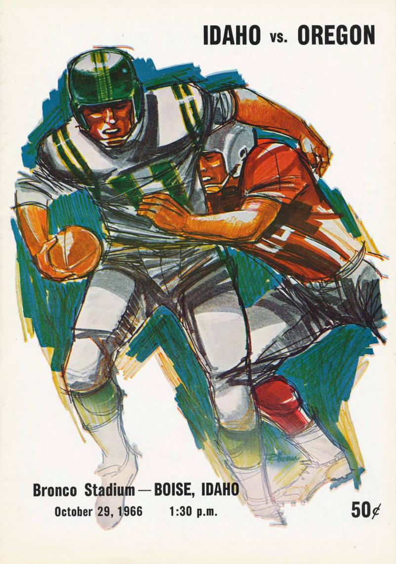 item thumbnail for Football Program: Idaho vs Oregon State, 10/29/1966, Bronco Stadium, Boise (Idaho)