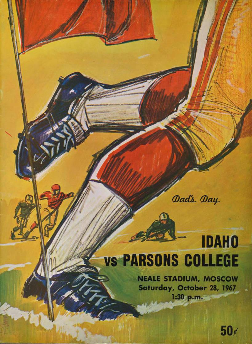 item thumbnail for Football Program: Idaho vs Parsons College, 10/28/1967, Neale Stadium, Moscow (Idaho)