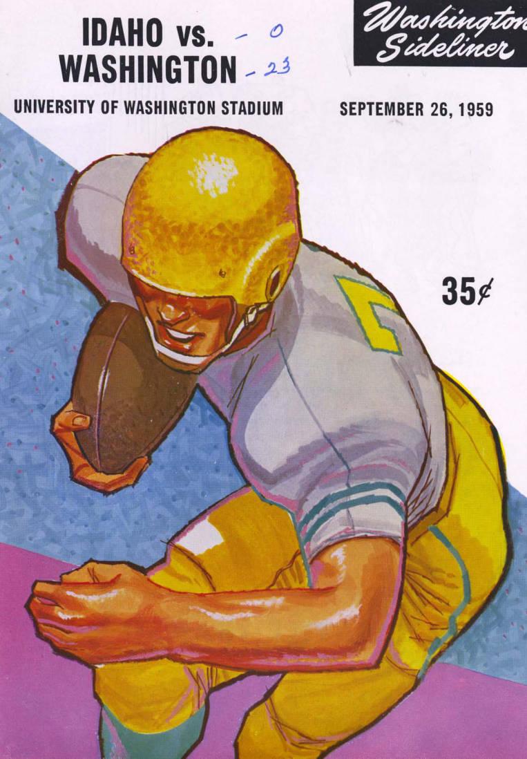 item thumbnail for Football Program: Idaho vs University of Washington, 09/26/1959, University of Washington Stadium, Seattle (Washington)