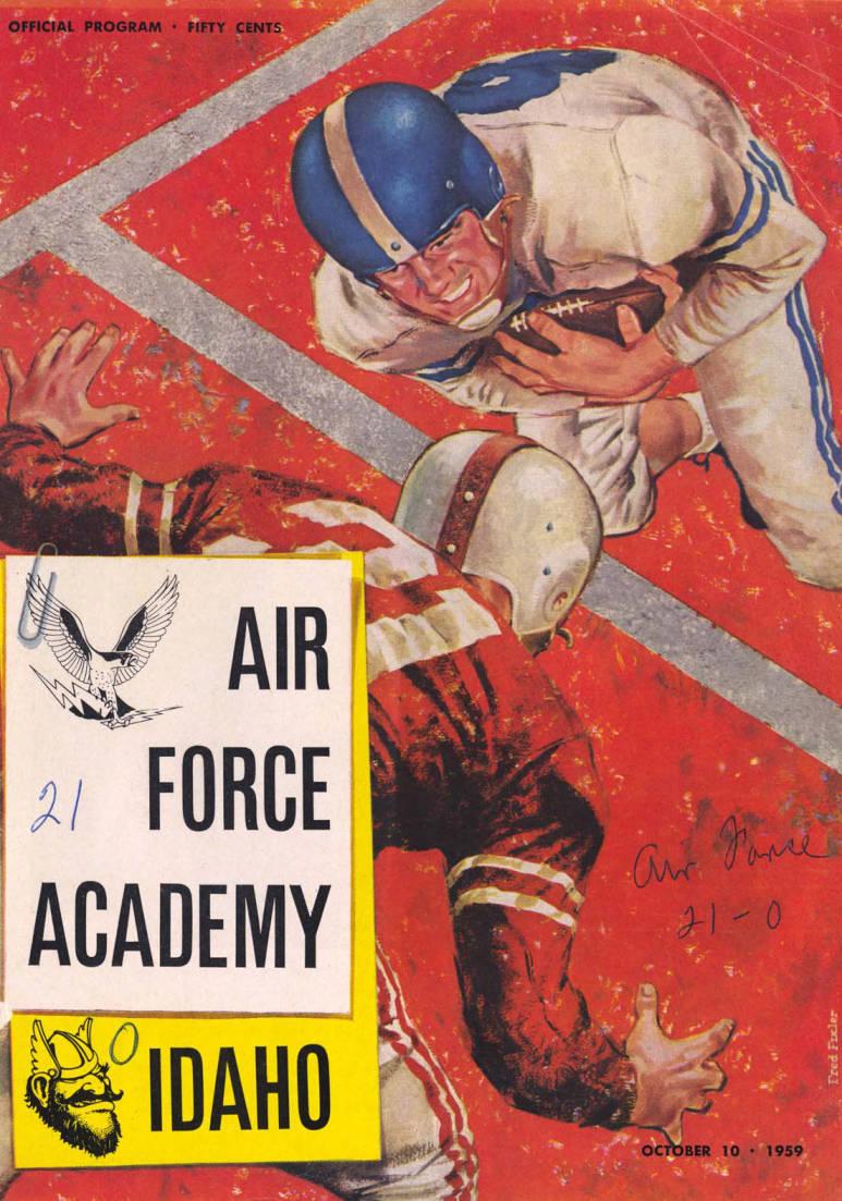 item thumbnail for Football Program: Idaho vs Air Force Academy, 10/10/1959, Neale Stadium, Moscow (Idaho)