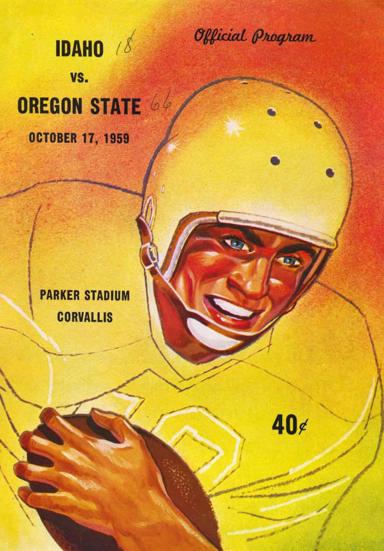 item thumbnail for Football Program: Idaho vs Oregon State, 10/17/1959, Parker Stadium, Corvallis (Oregon)