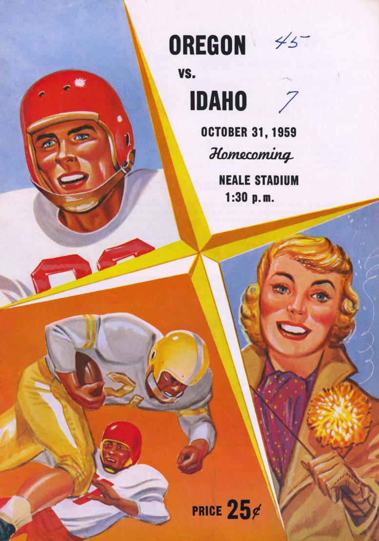 item thumbnail for Football Program: Idaho vs Oregon State, 10/31/1959, Neale Stadium, Moscow (Idaho)