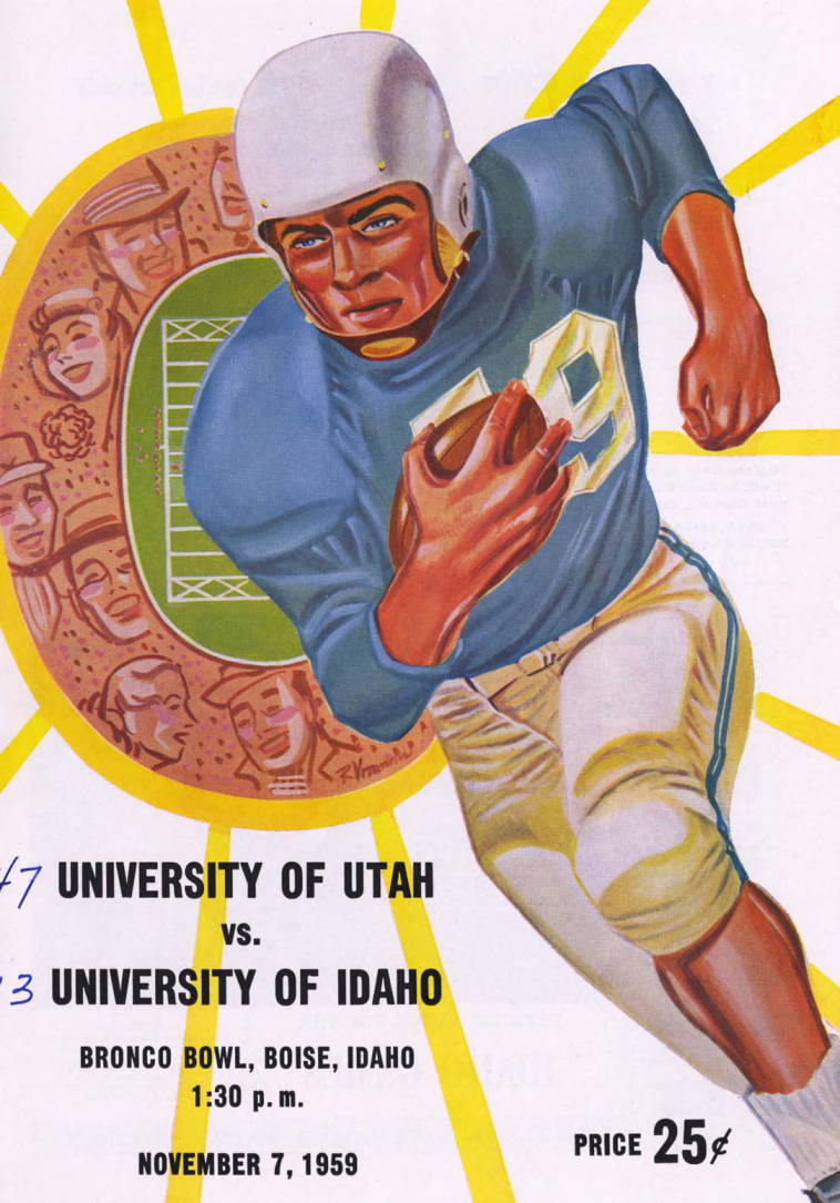 item thumbnail for Football Program: Idaho vs University of Utah, 11/07/1959, Bronco Stadium, Boise (Idaho)